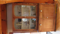 ANTIQUE SOLID PINE HUTCH