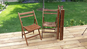 Folding Wood Chairs