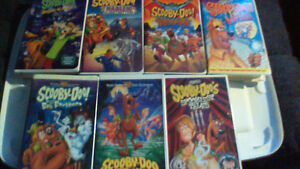 variety of scooby doo vhs tapes
