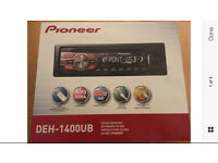 Brand new Pioneer DEH 1400Ub Stero with front usb and aux port