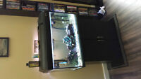 Active Fish Tank and Stand with all Accesories, Includes Fish