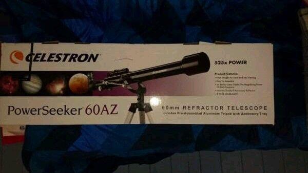 Telescope. celestron powerseeker 60az in wroughton wiltshire