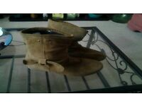 2 pairs of Suede boots