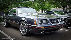 1984 Ford Mustang front bumper.