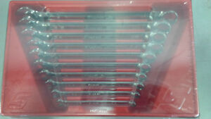 Snap-on flank drive plus 10 piece wrench set SAE