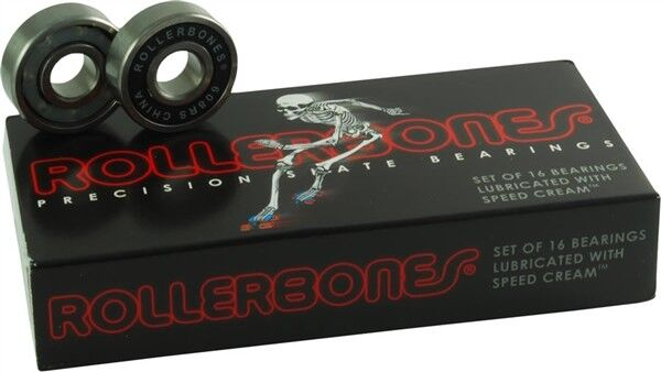 Bones Rollerbones Bearings (16 pack) for Roller Skates