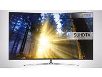 "New Samsung 49"" KS9000 HDR 4K ultra Full Smart TV Top model complete with orignal box New"