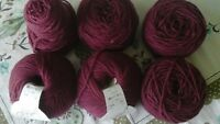 (6) 50 gram balls of merino wool-made in Italy-REDUCED PRICE