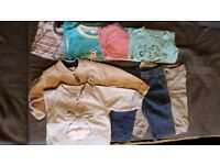 Small bundle of baby boy clothes 6-12 months