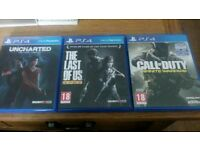 EXCELLENT CONDITION PS4 GAMES