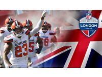 ***** 2 x NFL tickets - Minnesota Vikings vs Cleveland Browns - Twickenham Sun 29th Oct *****