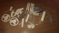 Wii Console, games, accessories & rechargeable batteries!!!