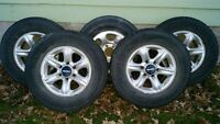 (4) OEM Isuzu Rodeo alloy wheels, as well as the spare!