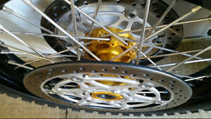 Spoked wheels, tires & brake rotors for Suzuki V-Strom Edmonton Edmonton Area image 3