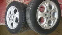 4 15'' toyota corolla factory wheels and michelin tires
