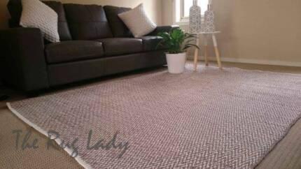 NEW!!!! Beige Flat Weave Modern Rug