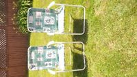 2 Beautiful Foldable Lawn Chairs