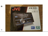 JVC KW R400 stereo double din with front USB and aux port - mint condition
