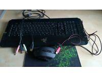 Razer kb+mat+A4tech bloody mouse