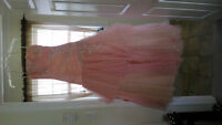 Pale Pink & Gold Prom Dress