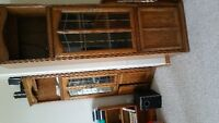 PERFECT CONDITION 4 PIECE HEAVY WOOD SHELVING & CORNER UNITS