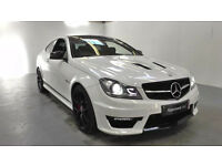WANTED WHITE 2 DOOR MERCEDES C CLASS BLACK PANORAMIC ROOF AUTO DIESEL CASH WAITING FOR RIGHT CAR