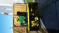 john deer ride on tractor with snow blower/ lawn mower