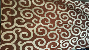 Brown & beige curtains for sale