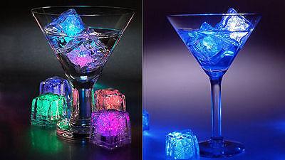 LED Eiswürfel weiß mehrfarbig Blink Tauchpumpe LICHT PARTY PACKUNG MIT 12