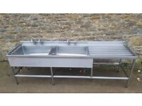 Double Bowl Catering Sink (Right Draining)