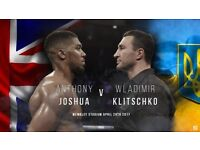 6 X ANTHONY JOSHUA VS KLITSCHKO BOXING TICKETS WEMBLEY LONDON APRIL 29TH 2017 CLUB SEATS