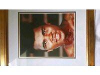 Muhammed Ali signed and framed print