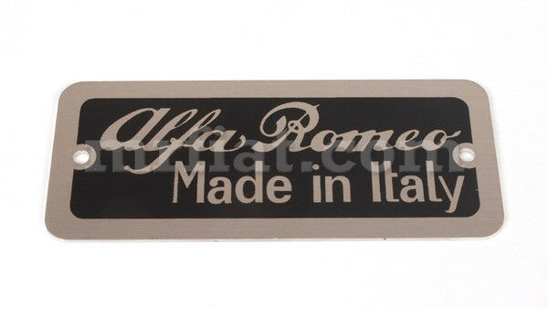 Alfa Romeo Giulia Giulietta Spider Made In Italy Emblem New