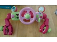 early learning centre pram driving toy pink