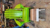 Adirondack Chairs and Garbage Box