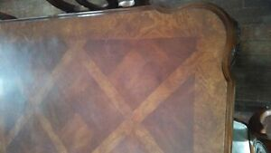 price reduced Hand Carved Solid Walnut Dining Table & 6 chairs Edmonton Edmonton Area image 6
