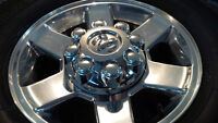 Set of 4-17 Inch Dodge 2500 rims with centre caps