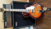 Gretsch guitar and Vox Valvetronic amplifier
