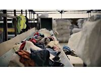 Warehouse Line Worker - Second Hand Clothing Sorting - £10 p/h