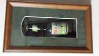 WWII D-day beer bottle shadowboxed