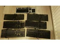Job lot of 7 computer keyboards