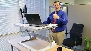 Dual Screen  Sit/Stand Station... BRAND NEW....