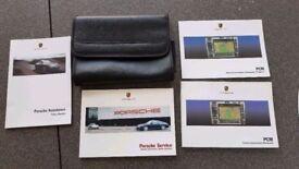 Porsche Service Wallet. Genuine original wallet with booklets, for 911, Boxter, Cayman etc