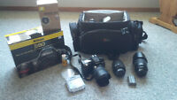 Nikon D80 DSLR with 3 lens   REDUCED PRICE