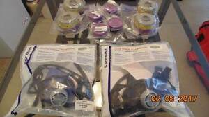 Two Sperian Half Mask Facepieces Reusable Respirator & 8 Filters