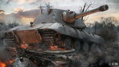 """010 World Of Tanks Centurion Overcast - Fight  Hot TV Game 42""""x24"""" Poster"""