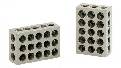 1-2-3 Blocks Matched Pair Hardened Steel 23 Holes