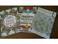 3 brand new adult colouring books