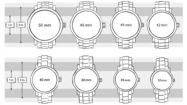 Choose the perfect watch size with our watch size chart | eBay