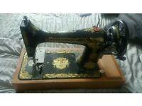 Old vintage rare singer manual sewing machine
